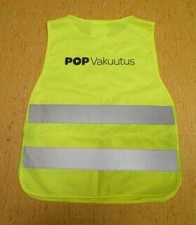 Logoga helkurvest - POP Vakuutus
