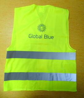 Helkurvest logoga - Global Blue