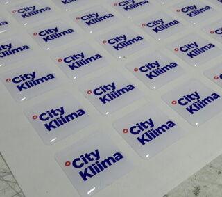 Kristallkleebised logoga - City Kliima