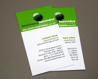 Kinnisvarateenindus visiitkaardid