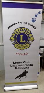 Roll up Exclusive 850x2000 mm Lions Club Lappeenranta Rakuuna