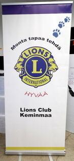 Roll-Up 850x2000 mm Lions Club Keminmaa