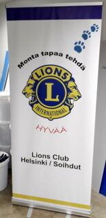 Roll-Up Lions Club Helsinki Soihdut