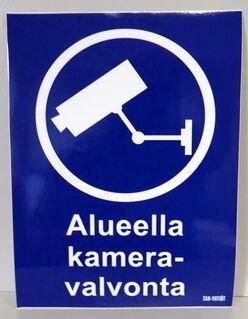 Varoitustarra Kameravalvonta