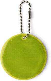 Round reflective key holder