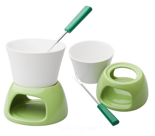 2319b701d25 ROLLUP - Ceramic mini fondue with rack and stainless steel fork with ...